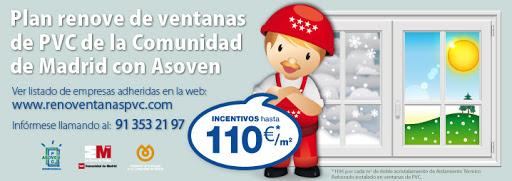 Plan Renove de ventanas de PVC en la Comunidad de Madrid